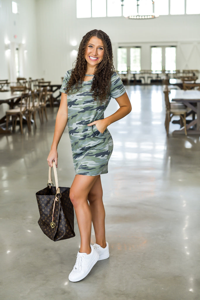 Hidden Away Camo Dress