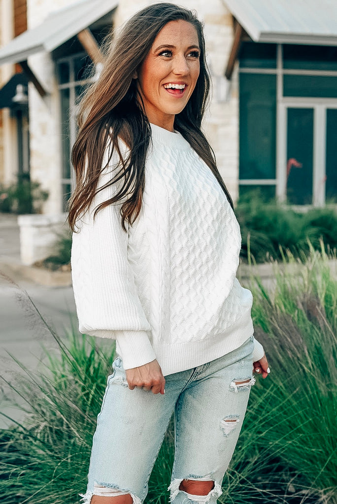 Home for the Holidays Sweater in Ivory