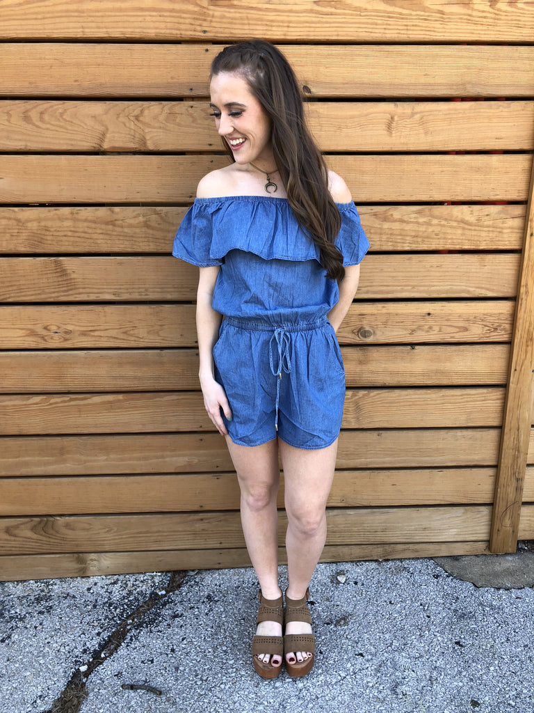Houston Rodeo Denim Romper