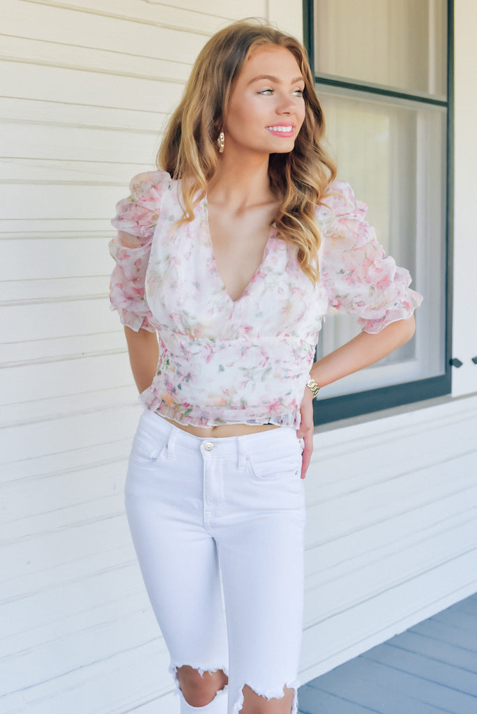 Best Moments Floral Print Top