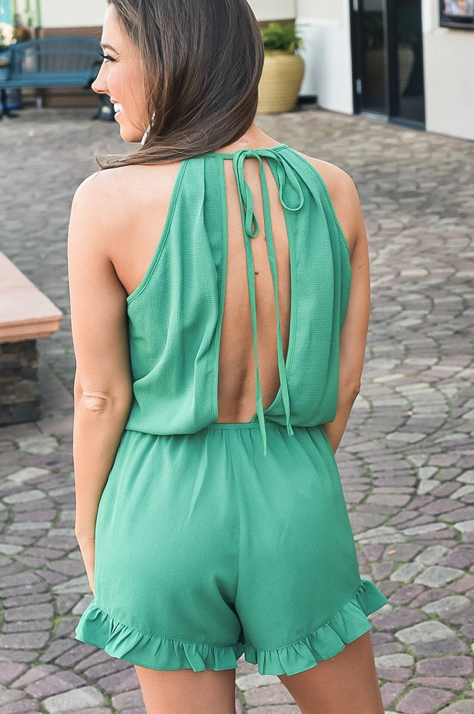 Kelly Green Romper