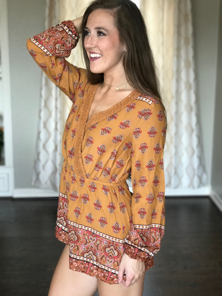Leaves Are Falling Romper