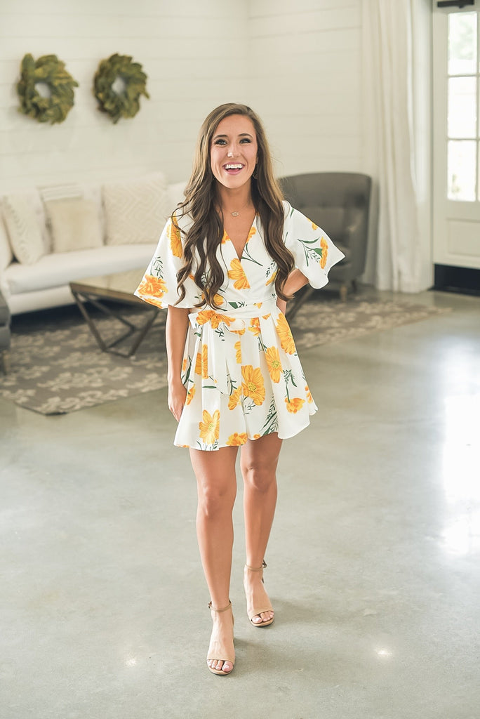 Let Love Bloom Sunflower Romper