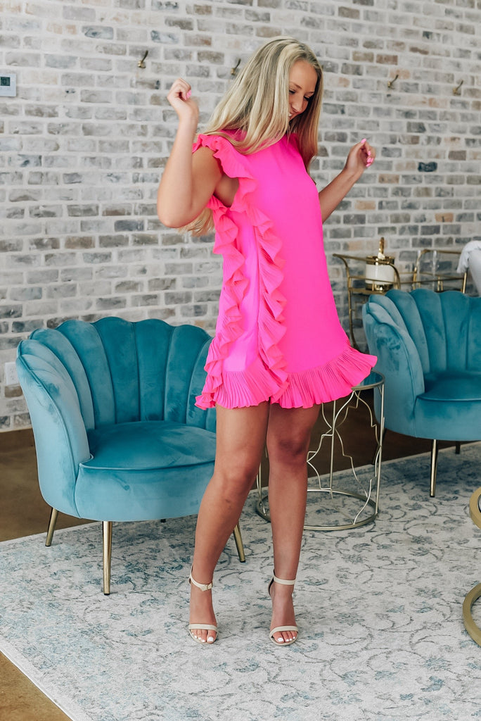 Major Moment Pink Ruffle Dress