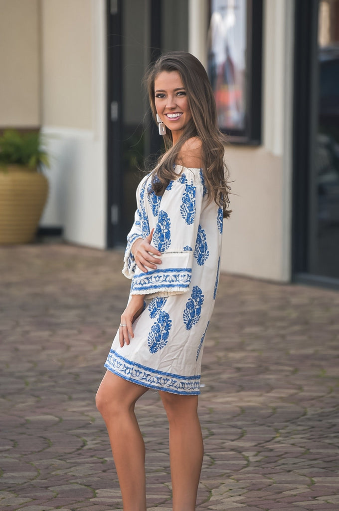 Meet Me in the Cabana Ivory Printed Dress