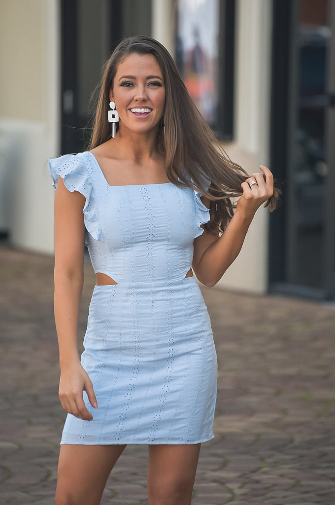 Miranda Dress - Sky Blue