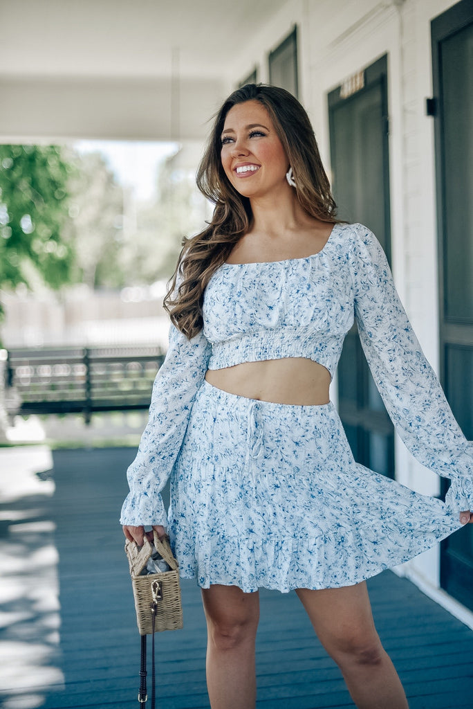 Near the Shore Floral Skirt
