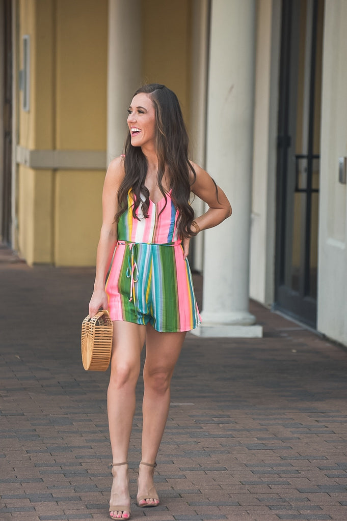 Never Miss a Beat Colorful Romper