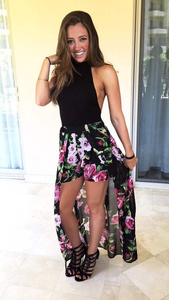 Night On The Town Floral Maxi