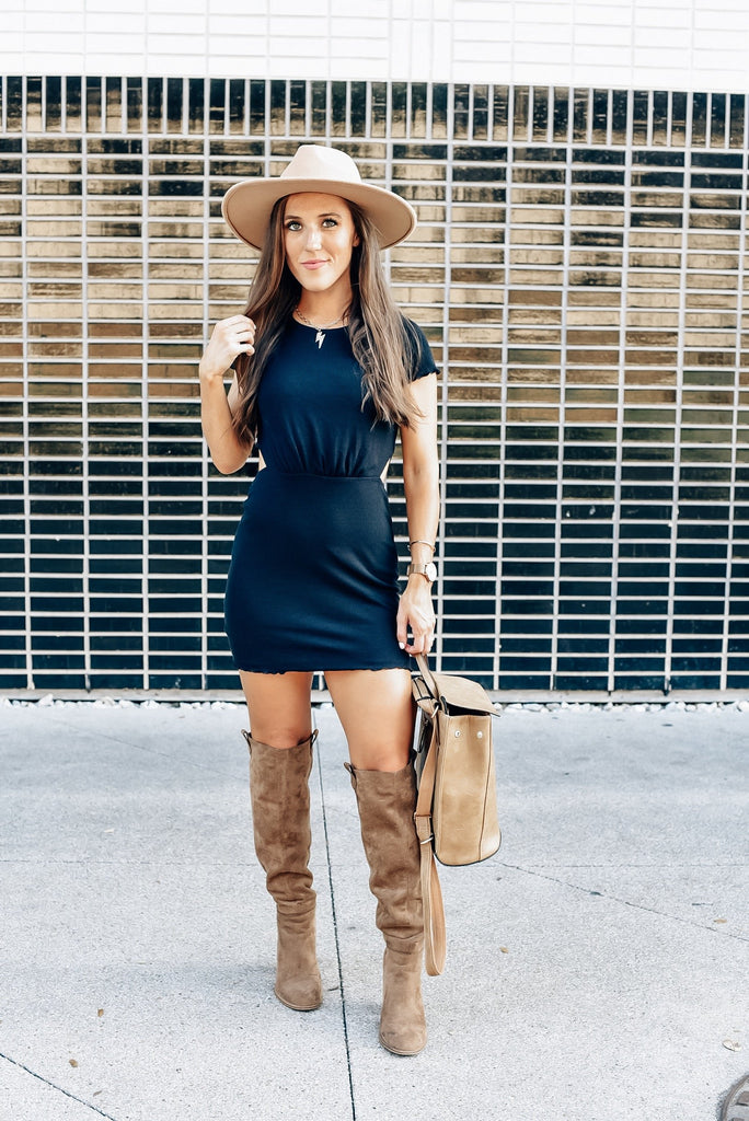 Nothing But the Best Ribbed T-Shirt Dress