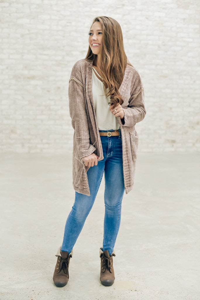 Oh So Warm Cardigan in Coffee