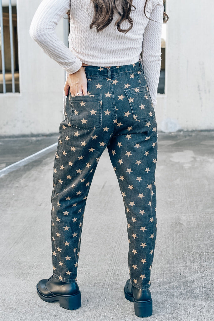 Out West Black Star Pants