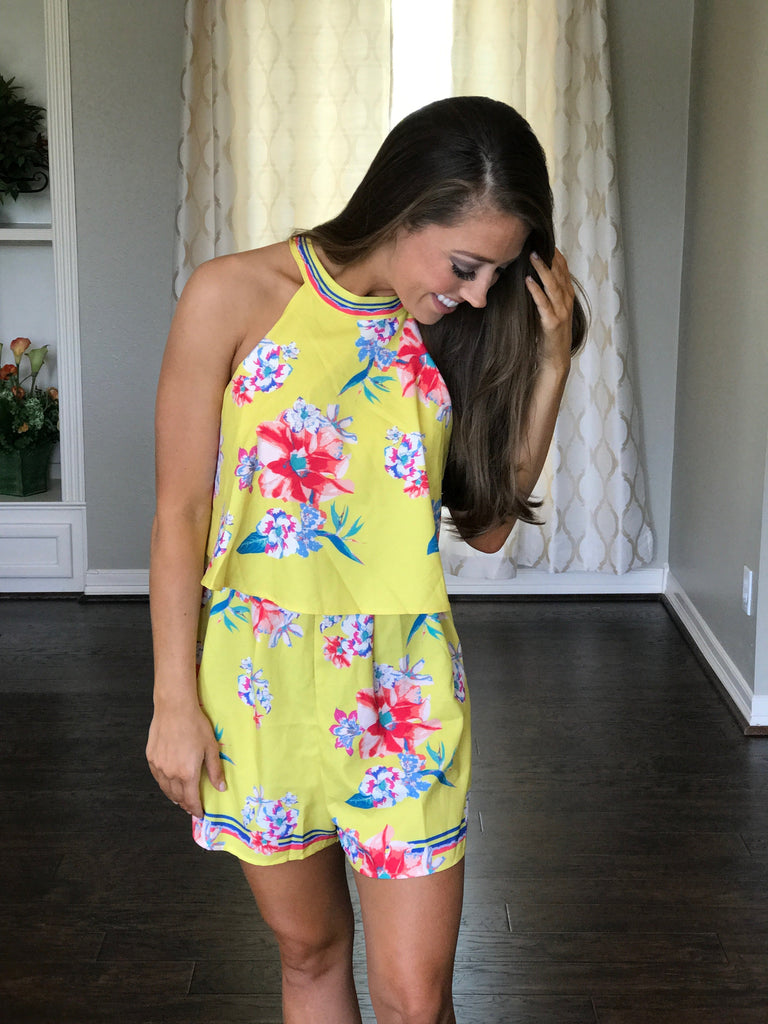 Paige Romper Yellow
