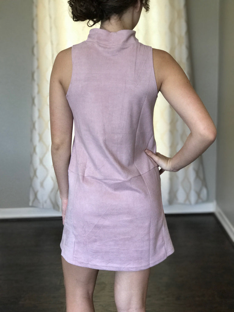 Pretty in Pink Suede Dress