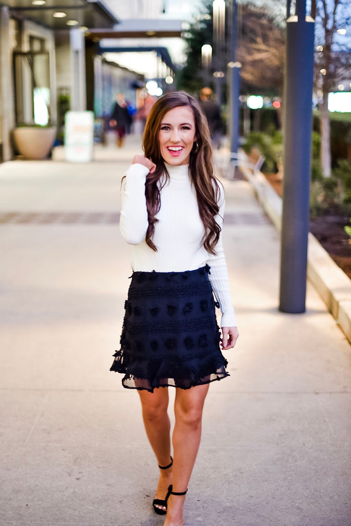 She's the One Detailed Skirt in Black