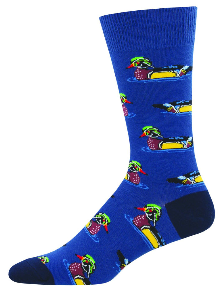 Sitting Duck Navy Socks - Men's Size
