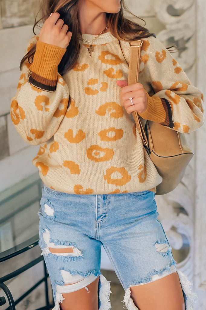 Stay Wild Leopard Sweater