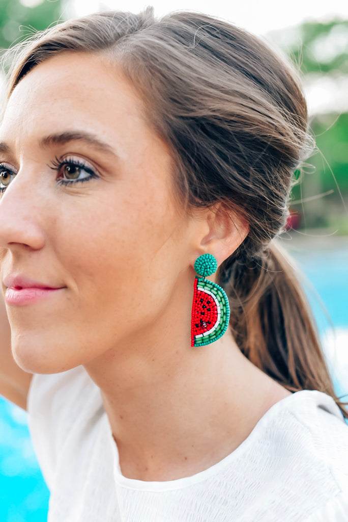 Sweet Summertime Watermelon Earrings