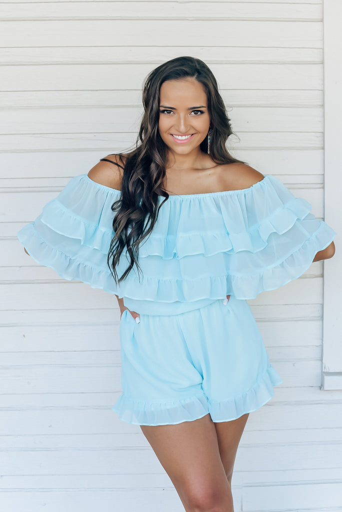 Tiffany Off The Shoulder Romper