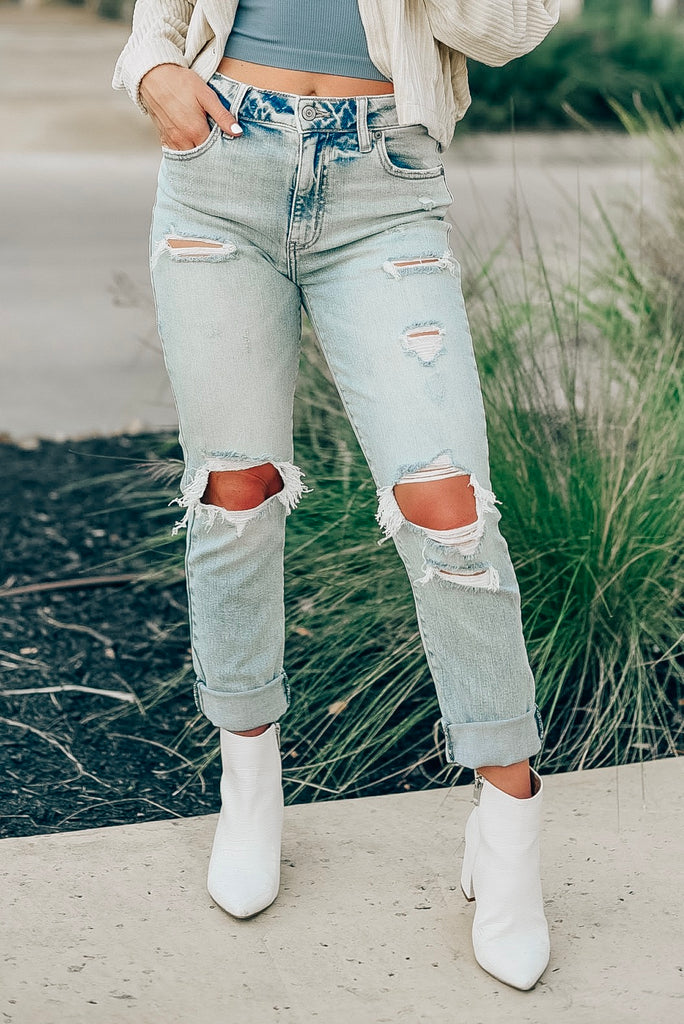 Tobi High Rise Cropped Jeans