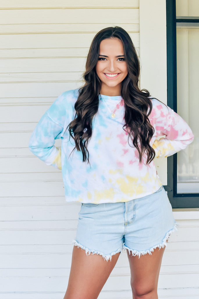 Watercolor Beach Tie Dye Sweatshirt
