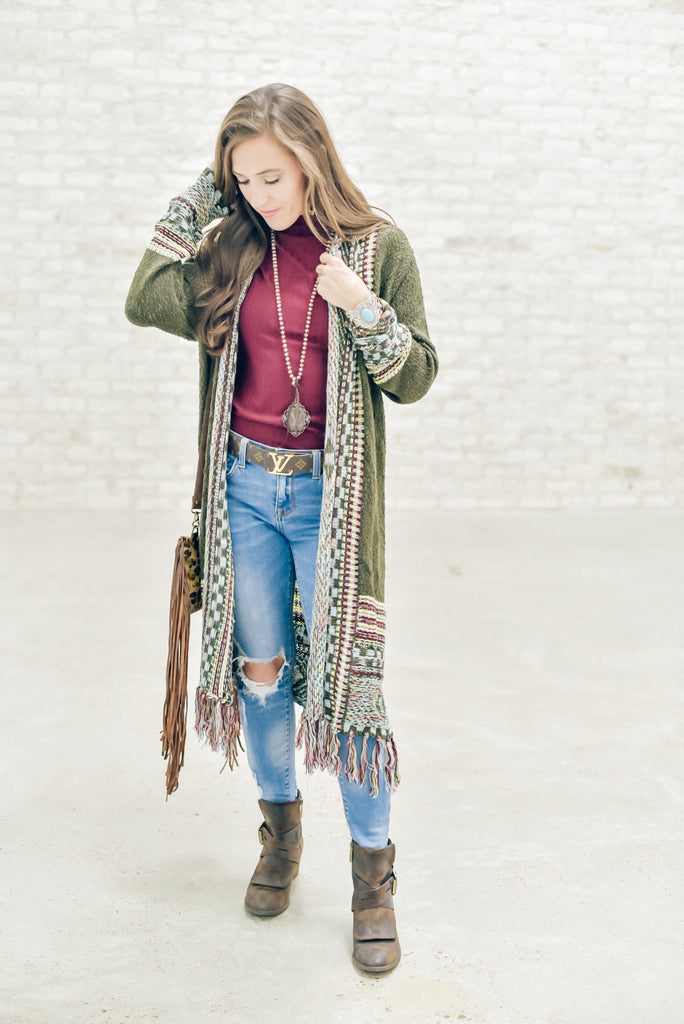 Wild West Fringe Cardigan