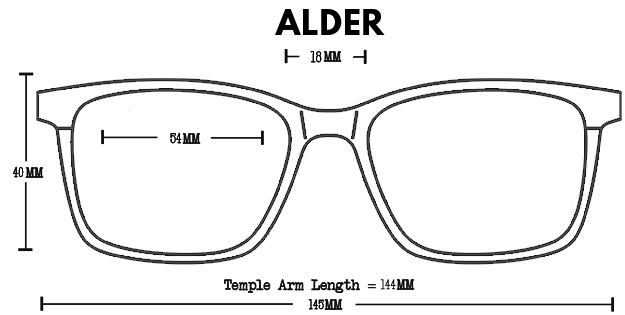 Alder Wood Rx Optical Fit Guide