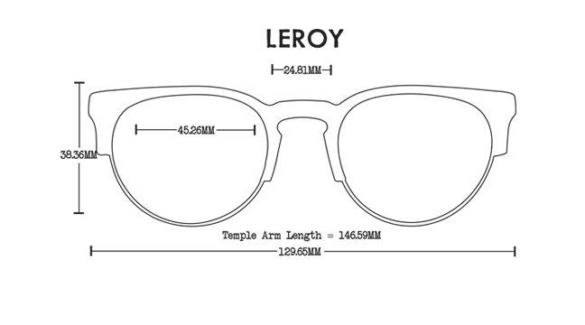 Leroy Acetate Rx Optical Fit Guide