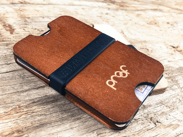 The Slab Eco-Friendly Stained Wood Wallet
