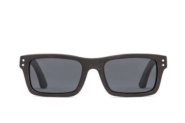 Boise Black FSC-Certified Sustainable Wood Sunglasses with Polarized Lenses