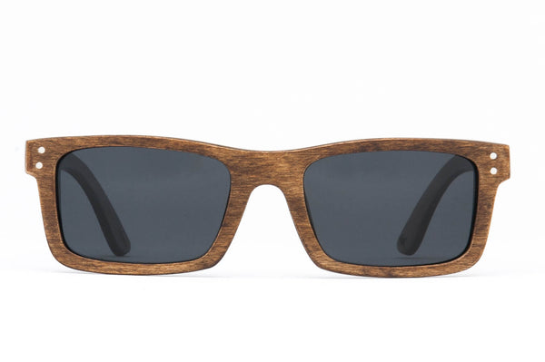 Boise Stained FSC-Certified Sustainable Wood Sunglasses with Polarized Lenses