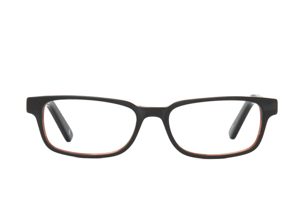 Burley Black Cotton-Based Acetate Eco Glasses with Prescription-Ready Clear Lenses