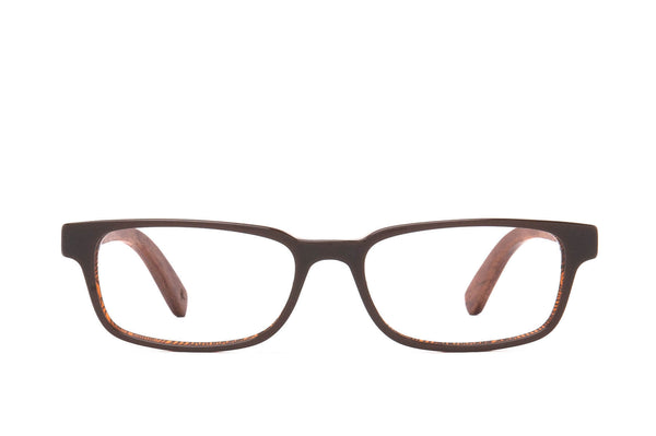 Burley Fossil Cotton-Based Acetate Eco Glasses with Prescription-Ready Clear Lenses