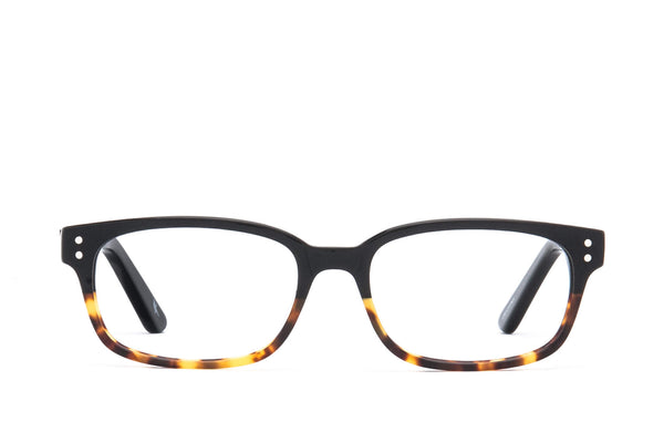 Lewiston Tortoise Flux Cotton-Based Acetate Eco Glasses with Prescription-Ready Clear Lenses