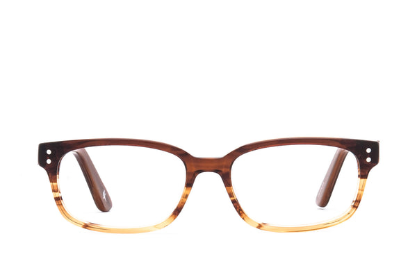 Lewiston Carmel Flux Cotton-Based Acetate Eco Glasses with Prescription-Ready Clear Lenses