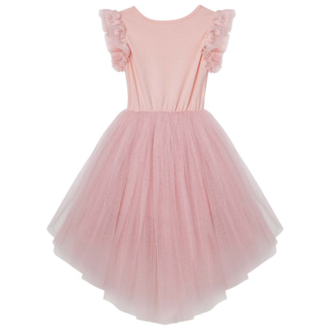Libby Lace S/S Tutu Dress - Tea Rose