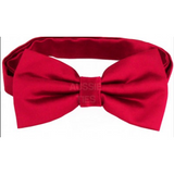 Scarlet Red Mens Bow Tie
