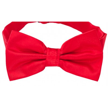 Cherry Red Mens Bow Tie