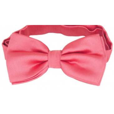 Dark Coral Mens Bow Tie