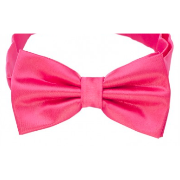 Hot Pink Mens Bow Tie