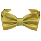 Metallic Gold Mens Bow Tie