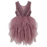 Sophie S/S Lace Bodice Tutu Dress - Truffle