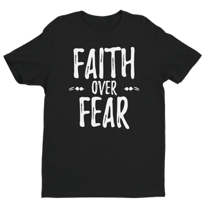"""Faith Over Fear"" Short sleeve men's t-shirt"
