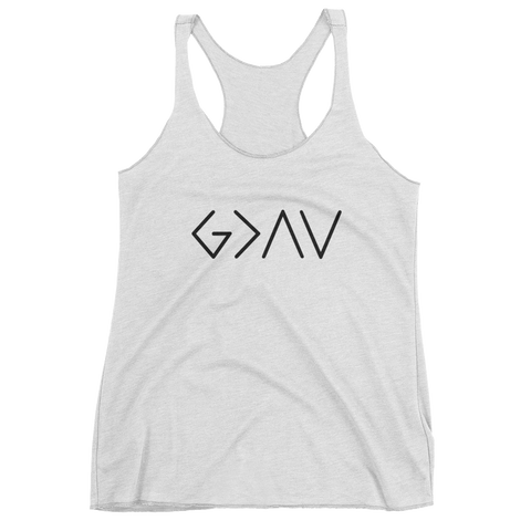 "Women's ""God is Greater Than the Highs and Lows"" tank top"