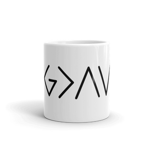 """God is Greater than the Highs and Lows"" Mug"
