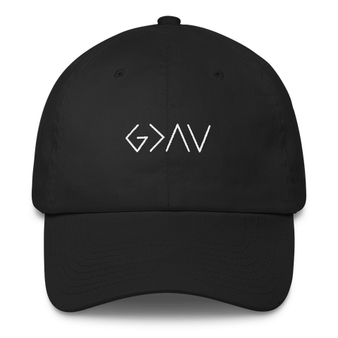 """God is Greater than the Highs and Lows"" Dad Hat"