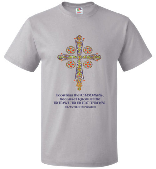 Byzantine Colorful Cross T-Shirt - Front Design Only