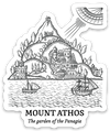 Mt. Athos Die Cut Decal