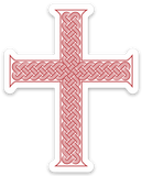 Interwoven Cross Die Cut Cross Decal