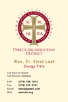 Clergy Business Card - Basic